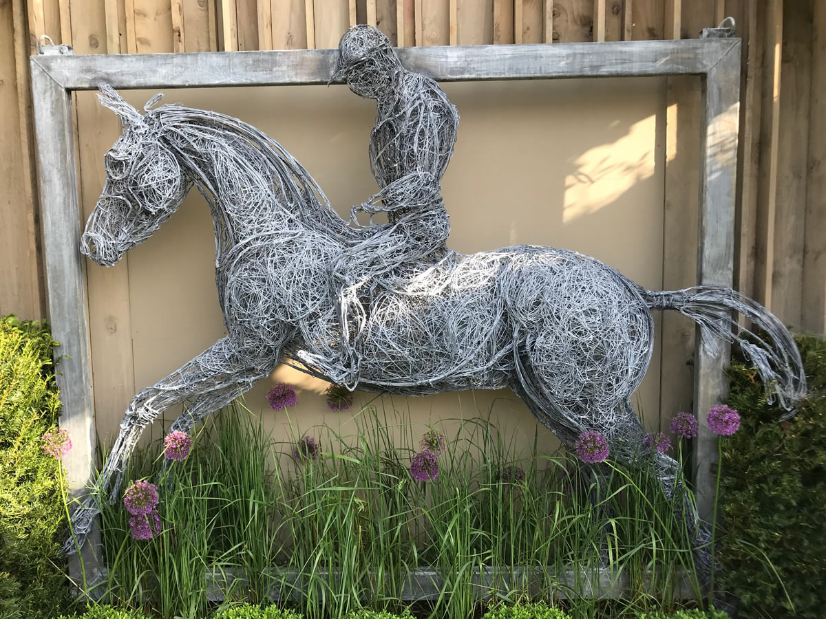 A relief sculpture in steel wire - similar commissions considered.