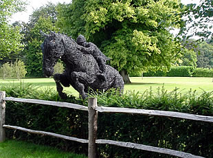 Wire Sculpture of a Jumping Horse
