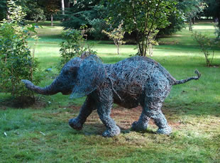 Jumbo - Wire Sculpture of an elephant