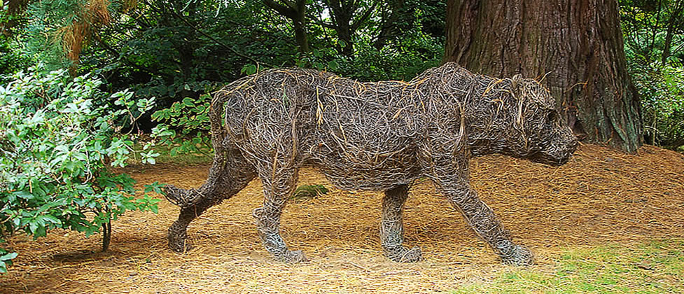 Tiger - Wire Sculpture of a Tiger