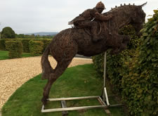 Horse & Jockey Wire Sculpture