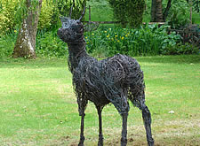 Just installed this bronze wire sculpture of a roe buck in a Surrey garden